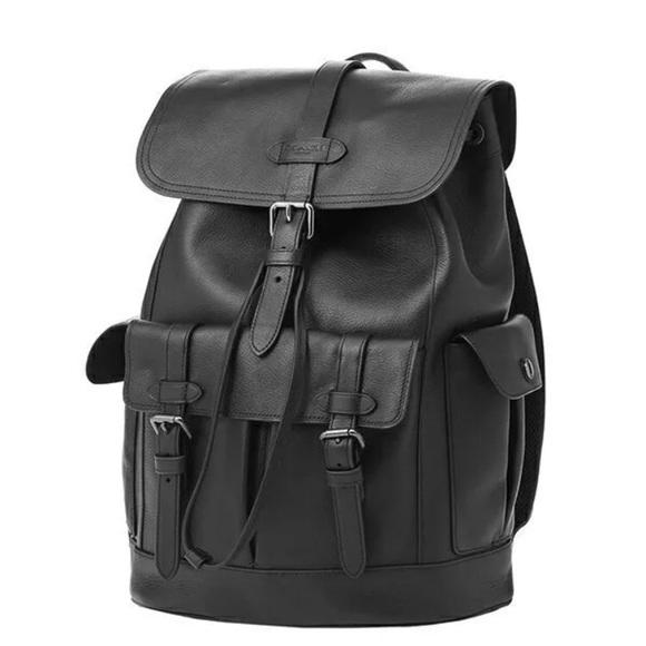 d22a212256cc F36811 Men s Hudson Black Leather Backpack